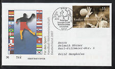 K-003) Germany 2007 FDC beautiful First Day Cover -Sports Aid World Cup Handball