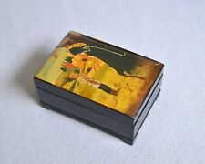 Vintage Russian Lacquer Hand Painted Miniature Box Vision to Bartholomew