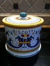 Deruta Majolica Italian Pottery - Ricco BISCOTTI JAR -- New!