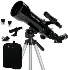 Celestron - 70mm Travel Scope - Portable Refractor Telescope - Fully-Coated Glas