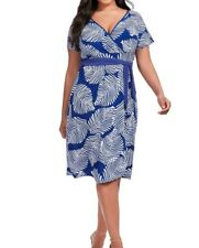 6feab2234fe IGIGI Stretch Jersey Braylee Faux Wrap Dress In Royal Print Size 18 20 - No