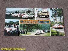 RALLYE SKODA (Bohemia) Skoda 130 RS, Renault 5 - Karte/card 10x21 cm RAR!