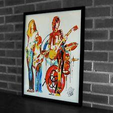 Led Zeppelin Plant Page Jones Bonham Hard Rock Music Poster Print Art 18x24