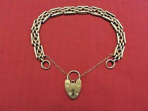 Elegant Solid Gold 9ct Gold Gate Bracelet