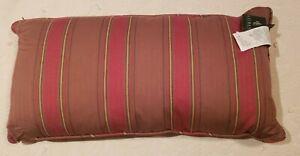 "NWT Ralph Lauren Paisley Stripe Sunset 14""x27"" Lumbar Throw Pillow Brown Red Gld"