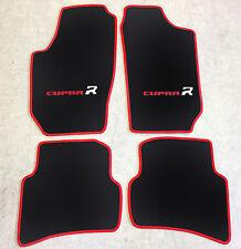 Autoteppiche Fußmatten für Seat Ibiza Cupra R Typ 6L 2002-2008  2farbig rot Neu