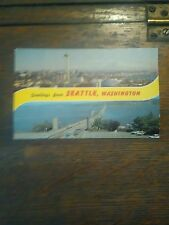 GREETINGS FROM SEATTLE WASHINGTON A VINTAGE POST CARD FROM SEATTLE WASHINGTON