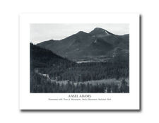 Ansel Adams B/W Photo Panorama Rocky Mountain Park Wall Picture 8x10 Art Print
