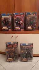 Marvel Legends Toy Biz Series VIII 8 Lot of 5 Capt America,Iron Man, Black Widow