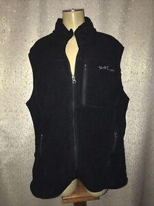 Eddie Bauer Mens Zip Up Fleece Vest Black,  Size Large
