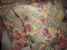 CROWN CRAFT STRAW ROSE FLORAL PINK SPRUCE (PAIR) STANDARD PILLOW SHAMS 20 X 26