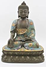 Cloisonne Ratnasambhava Buddha Figur Bronze Statue Tibet Budda AsienLifeStyle