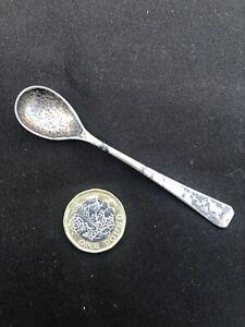 Antique Silver Mustard Spoon