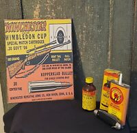 VINTAGE WINCHESTER RIFLE 30-06 AMMO GUN  ADVERTISING PRINT CANVAS SIGN