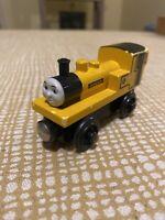 Thomas Friends Wooden Railway Duncan Train Set Engine Yellow  2003  Retired #4