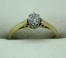 18 Carat Gold 0.25 carat Diamond Solitaire Ring Size J
