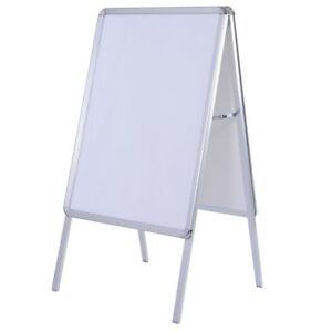 Double Sided White A-frame Display Snap Board Advertising Poster Stand