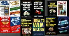 Lot 12 Gambling Books Slots Poker Casino Games Craps Lotto Lottery Horse Racing