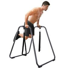Dipping Station Fitness Strength Training Dip Bar With Slings Loops