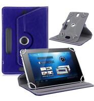 "Blue Flip Leather Folio Case Stand Box Cover For Android Asus Tablet 7"" 8"" 10.1"""