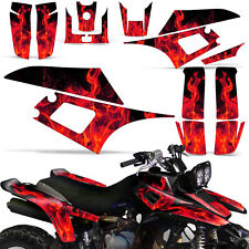 Decal Graphic Kit Yamaha Warrior 350 ATV Quad Decal YFM350X Wrap 87-04 ICE RED