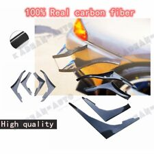 CARBON FIBER TBO STYLE FRONT BUMPER CANARD FIN DUCT TRIM FOR NISSAN R32 GTR