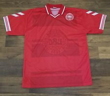 Vintage Denmark National Futbol Soccer Team Jersey Red Mens size Medium beb3427bf