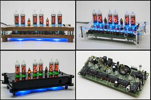 BOARD FOR NIXIE IN-16 Desk Clock + Case + Power Supply + Remote + RGB NO TUBES!