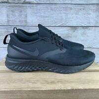 Nike Odyssey React 2 Flyknit Triple Black Men's AH1015-003 Size 9 NEW *