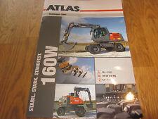 Prospekt Buch Original Atlas Mobil Bagger 160 W Zahlen Darten Bilder Leistung !