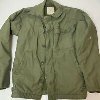 Vintage Vietnam Era US Navy Green A-2 Deck Jacket General Zip Size Small