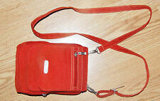 BAGGALLINI Tomato Rust Red Crossbody Bag small Messenger Organizer Purse NEW