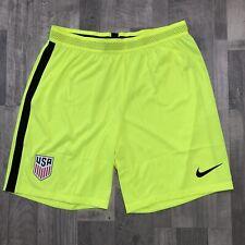 Nike USA National Team Aeroswift Volt Green Football Soccer Shorts Sz Large NEW