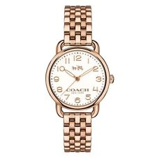 NWT Coach WOMENS ROSE GOLD TONE Delancey BRACELET WATCH 28mm 14502242