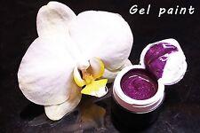 Pearl Violet Gel paint Farbgel 5 ml for Nail Art like Emi