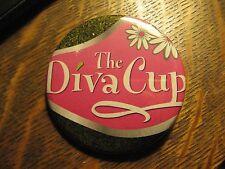 The Diva Cup Feminine Menstrual Pink Daisy Logo Advertisement Pocket Mirror