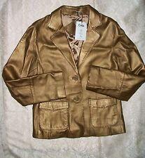 NWT $300 Cabi Gold Bronze Leather Blazer Jacket Coat 10
