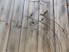NEW METAL YARD ART SCULPTURE WITH FLOCK OF HUMMINGBIRDS