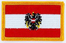 AUFNÄHER Patch FLAGGEN flagge Österreich austria  flag Fahne  7x4.5cm