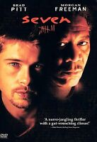 NEW! Seven (DVD, 1995) Brad Pitt Morgan Freeman FREE SHIPPING! Sealed!
