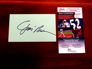 JIM BROWN CLEVELAND BROWNS HOF SIGNED AUTO VINTAGE INDEX CARD JSA AUTHENTIC