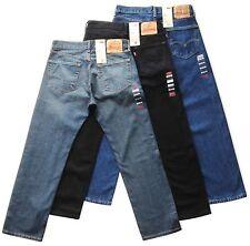 Levis 505 Jeans Mens Zip Fly Straight Leg 100% Cotton W30 32 34 36 38 40 42
