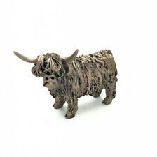 More details for frith sculptures highland cow standing junior cold cast bronze figurine vb076