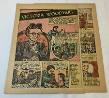 1949 two page cartoon story ~ VICTORIA WOODHULL ~ suffragette