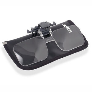 1.5X Clip and Flip Multi Powered Clip-On, Flip-Up Magnifying Lenses