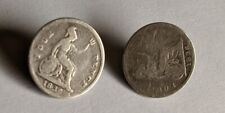 More details for william iv 1836  x 2 silver 4d coins as buttons