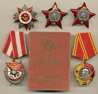 Soviet Order Medal Lenin Red Banner Star GPW document and research (1949)