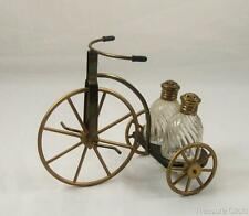 Vintage Salt & Pepper Shaker On A Table Top Tricycle - Nice!