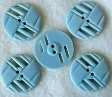 5 Large Vintage Baby Blue BAKELITE, Pierced Buttons 2 Hole Approx 1-1/8 Lot B109