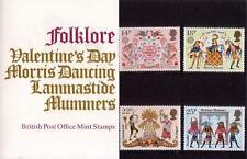 GB 1981 Folklore Europa presentación Pack 124 SG 1143-1146 sello de menta SET # 124